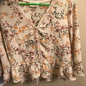 Floral blouse dressy top